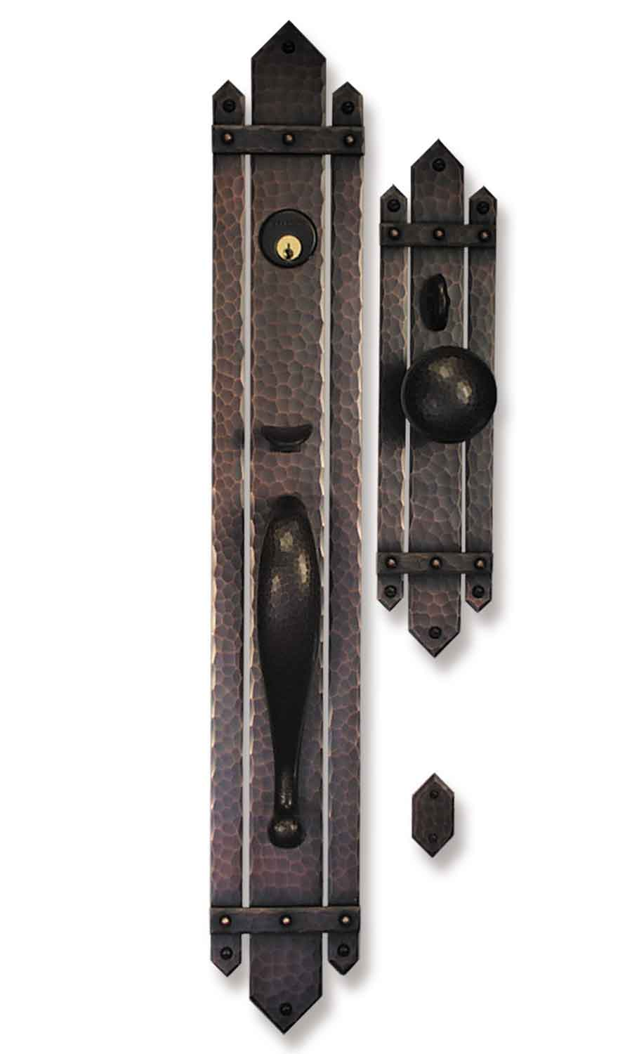 Mission style door hardware - Arts And Crafts Style Door Hardware Fortress Entry Set