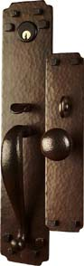 Arts and Crafts Entry Hardware | Craftsman Syle Door Hardware | Mission Style Entry Door Hardware | Greene and Greene Door Hardware