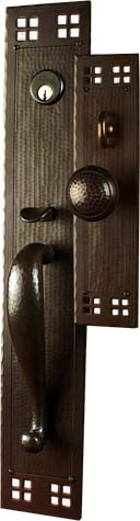 Arts and Crafts Entry Door Hardware | Craftsman Door Hardware | Mission Style Entry Set