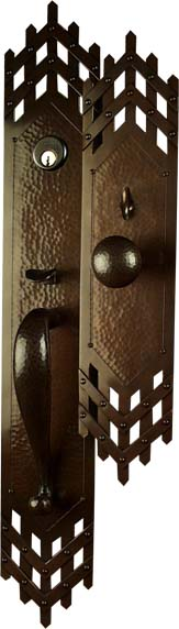 Arts and Crafts, Craftsman Style Exterior Entry Door hardware.