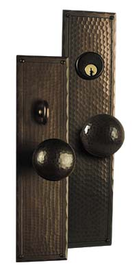 Arts and Crafts Entry Door Hardware