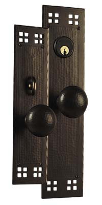 Arts and Crafts, Craftsman Style Entry Door Hardware.