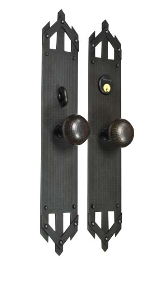 Arts and Crafts, Craftsman Style Entry Door Hardware Set.