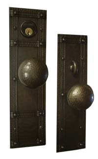 Arts and Crafts Entry Door Hardware Set