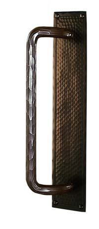 arts and crafts field style hand crafted hand hammered copper sliding door conversion door hardware