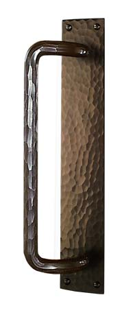arts and crafts hammered style hand crafted hand hammered copper sliding door conversion door hardware