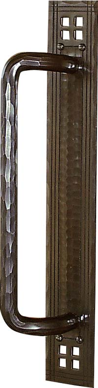 arts and crafts pacific style hand crafted hand hammered copper sliding door conversion door hardware