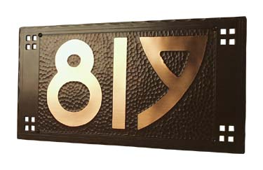 Arts and Crafts House Number Plaque | Craftsman House Numbers | Mission Style House Number Sign