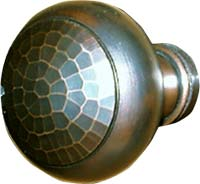 arts and crafts hand crafted hand hammered copper door knob